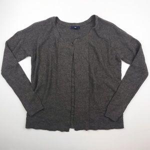Gap charcoal gray wool cardigan sweater top E14